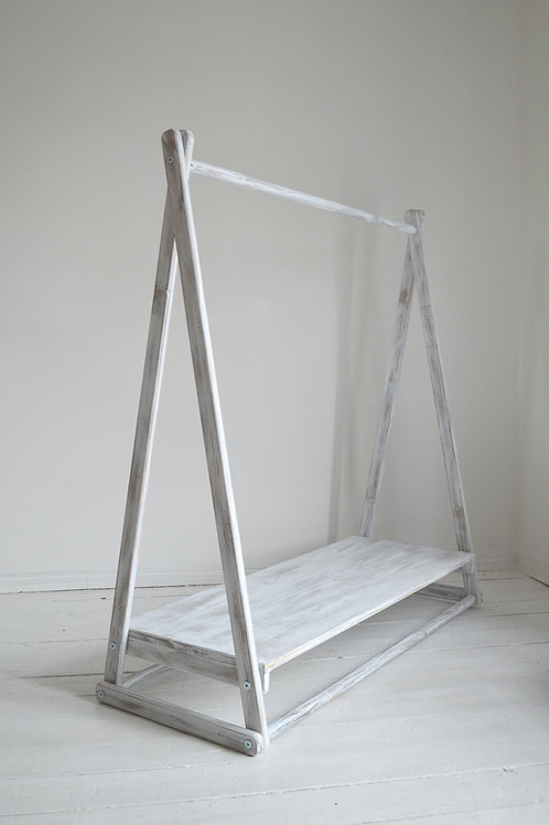 Clothes Rail with a Shelf in two colours