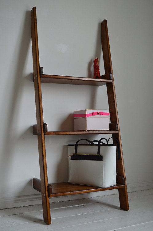 Hand Made Wooden Shelving Ladder