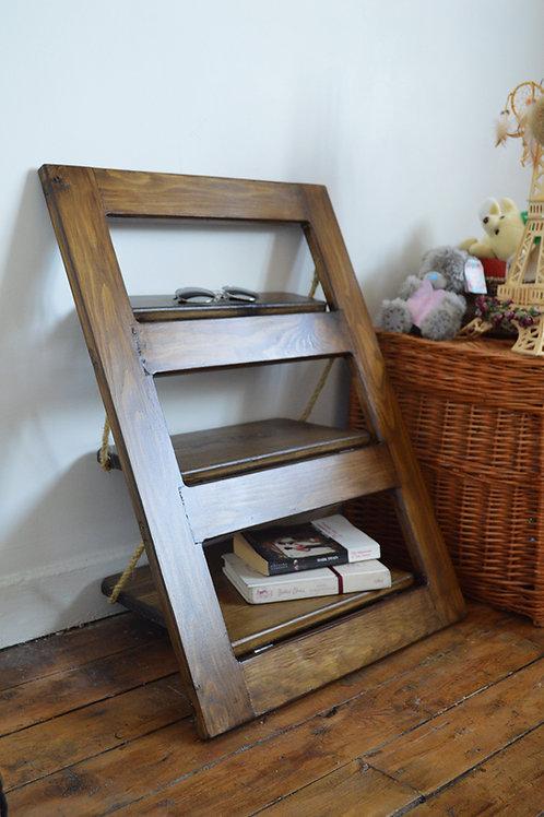 Mini Wooden Hand Made Ladder, Wall Shelf