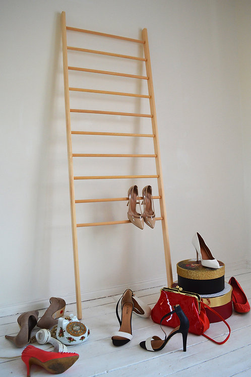 Stylish Vintage Ladder Perfect to be put inside a shop Rungs Paper Storage