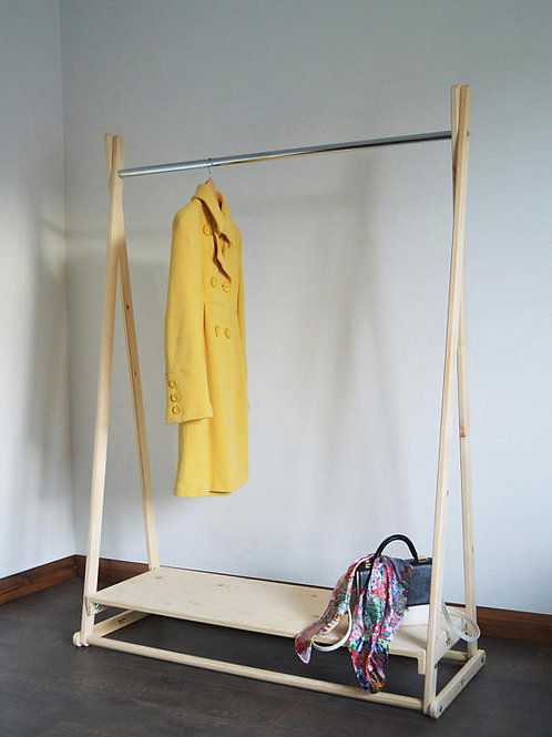 Clothes Rail with a Metal Pole