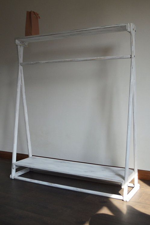 Handmade, Shabby Chic, Clothes Rail with 2 Shelves!