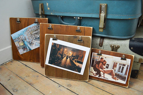 Reclaimed Wood Clipboard Picture Frames