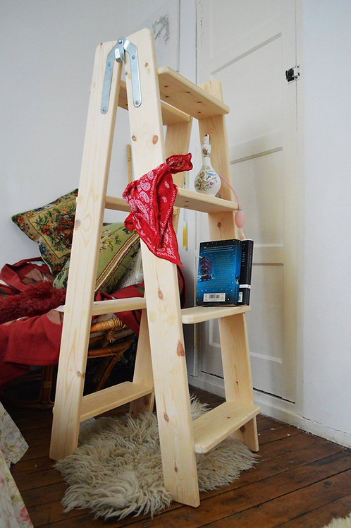 Massive Vintage Double Wooden Ladder