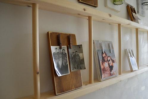 Large Vintage Wooden Multipurpose Wall Hanging or standing Ladder 2 meters long!