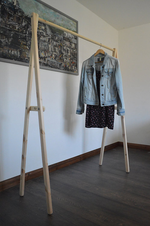 Clothes Rail with a metal or timber pole