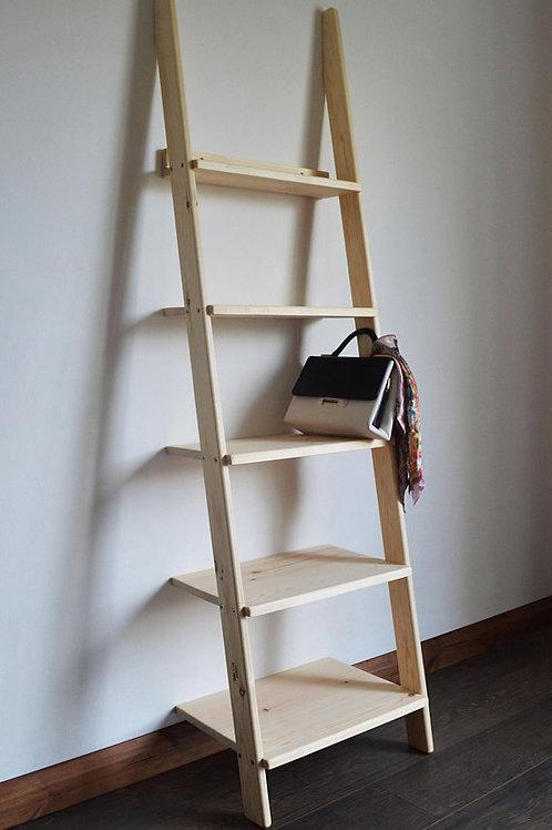 Decorative Wooden Ladder Unit Storage Desplay