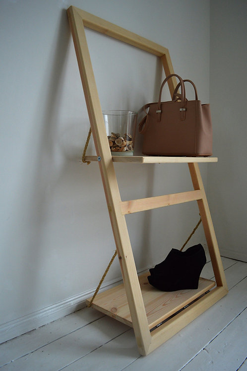 Rotating  & Leaning Wall Shelf Ladder
