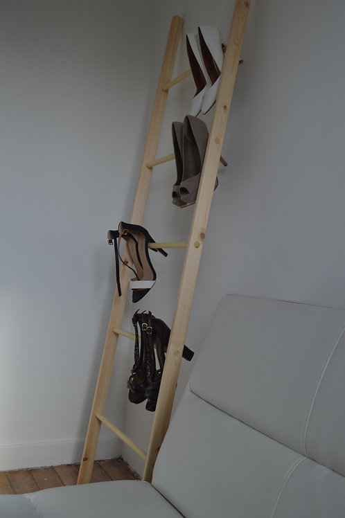 Straight Decorative Wooden Ladder from Pine Wood