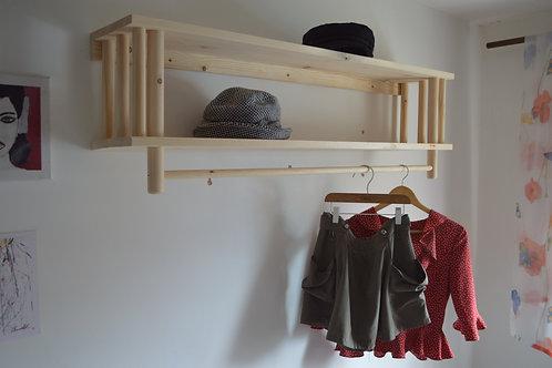 Handmade Wooden Clothes Rack, Clothes Rail