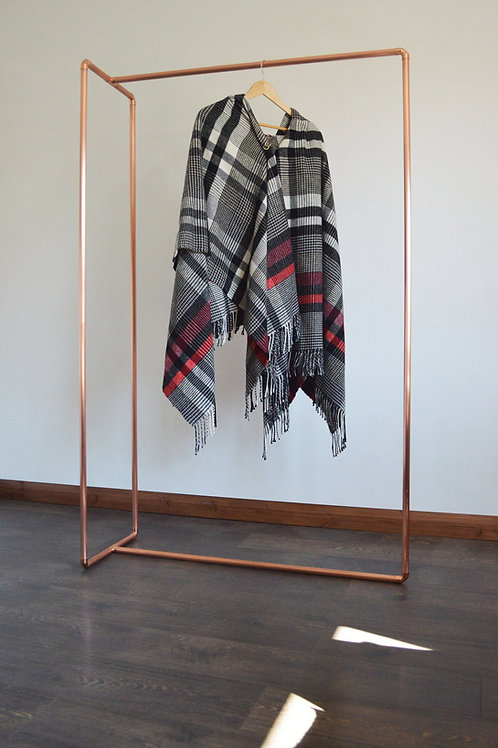 Copper Pipe Clothing Structure, Industrial Copper Clothing Rack