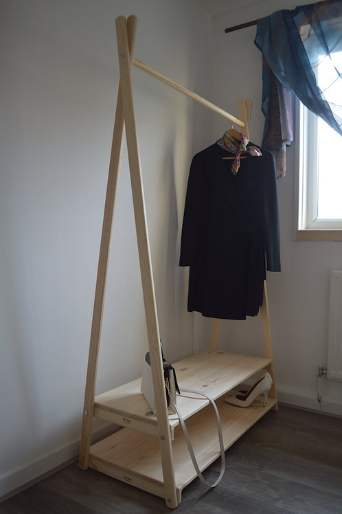 Clothes Rail with 2 Shelves