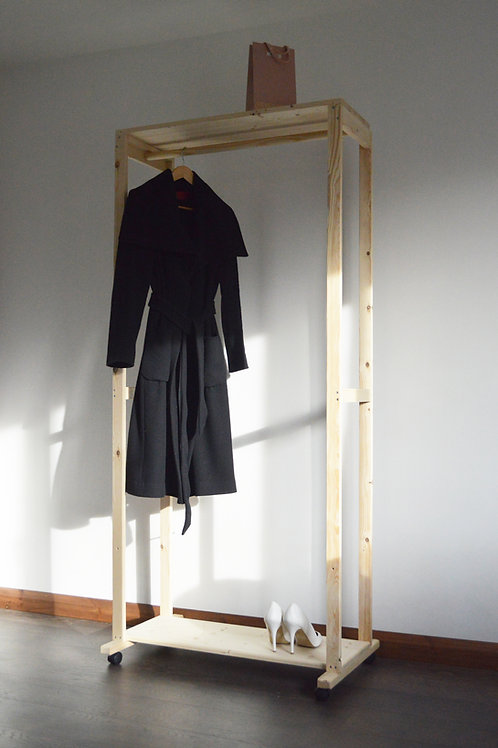 Clothes Rack with 2 Shelves
