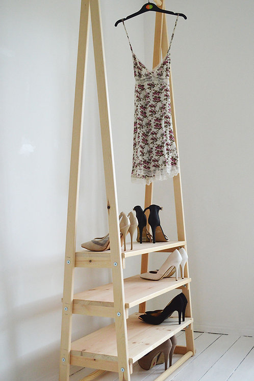 Clothes Rail with 3 Shelves