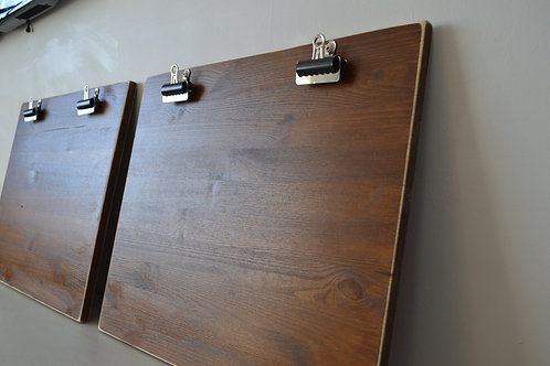Reclaimed Wood Clipboard Picture Frame