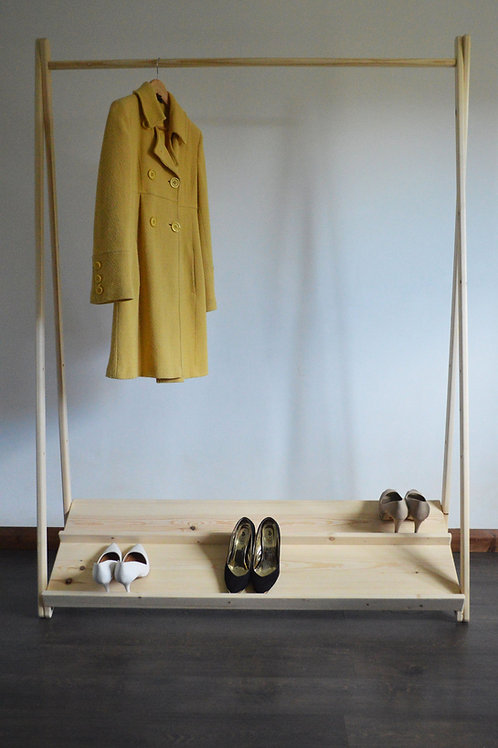 Clothes Rail with Shoe Shelf