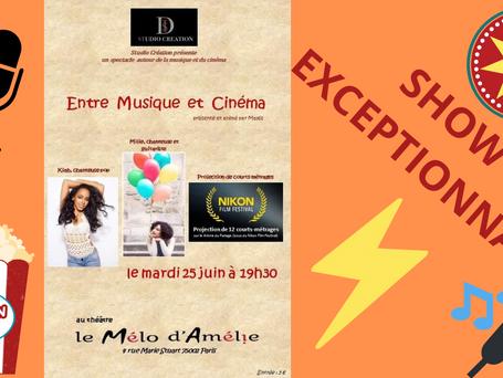 Théâtre Mélo d'amélie projection concert