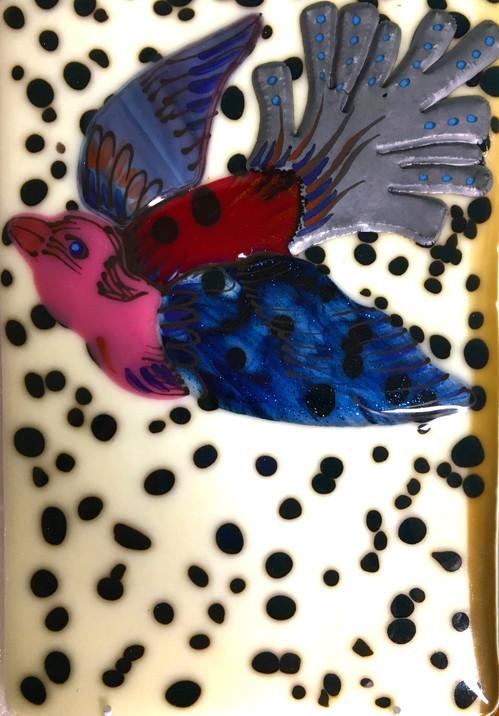 Bird Tile - Ivory