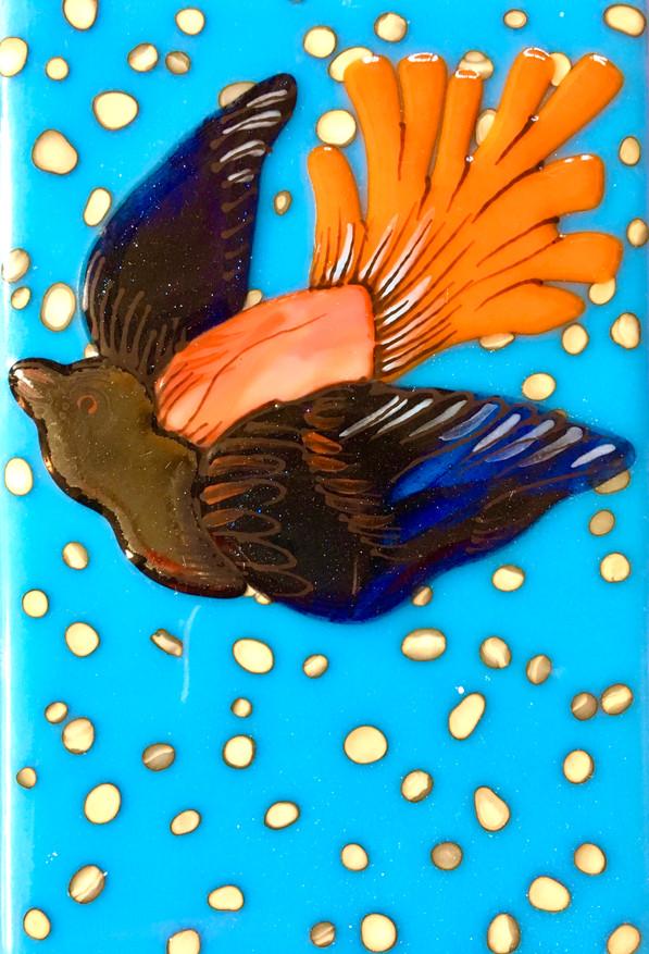 Bird Tile - Cyan2