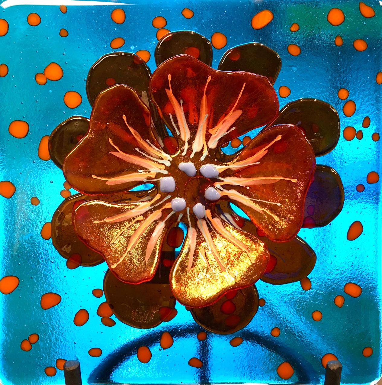 Orange Irid on TR Turquoise