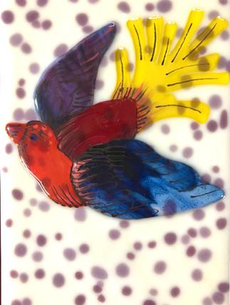Bird Tile - Ivory 2