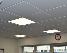 Upgrade to Ennergy Efficient LED lighting at an office in Market Harborough by Stelec electrical