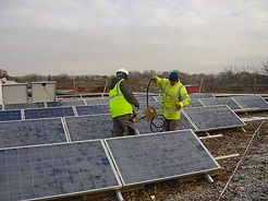 Solar panel installation at a school by Stelec Electrical