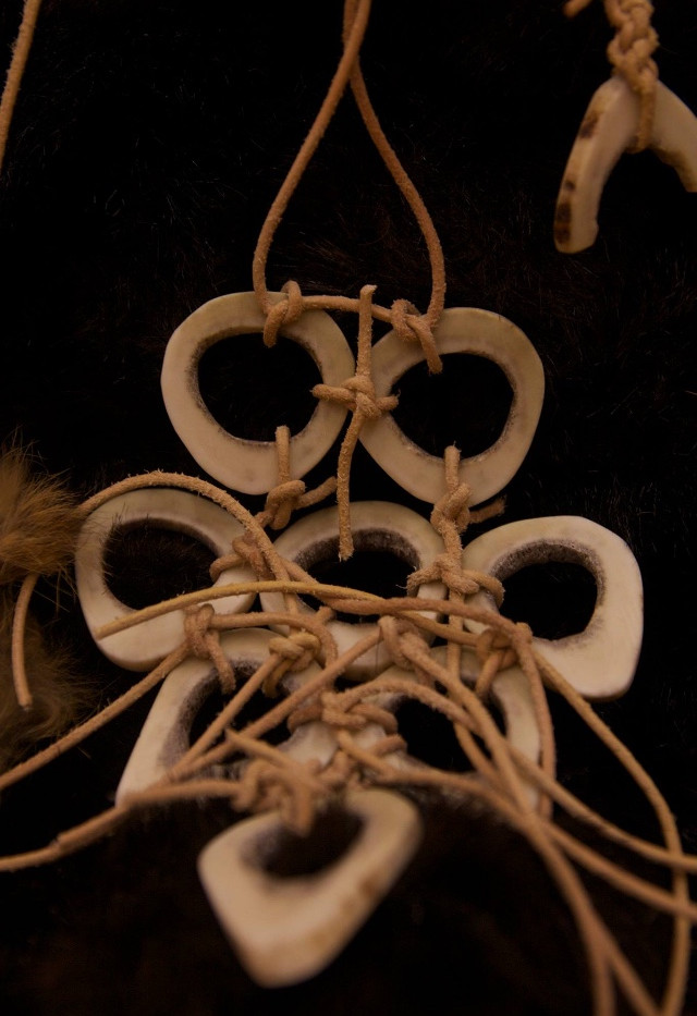 necklace carved from deer antlers