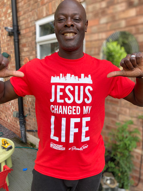 Jesus changed my life Tee shirt