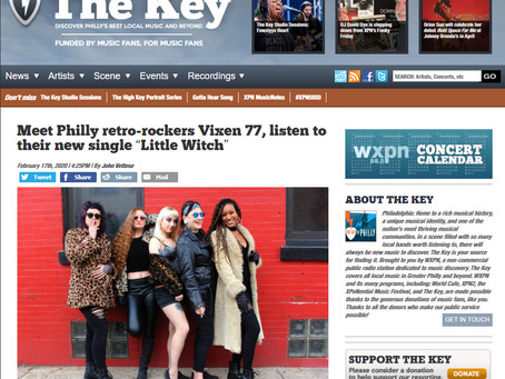 WXPN's The Key shows Vixen77 Love