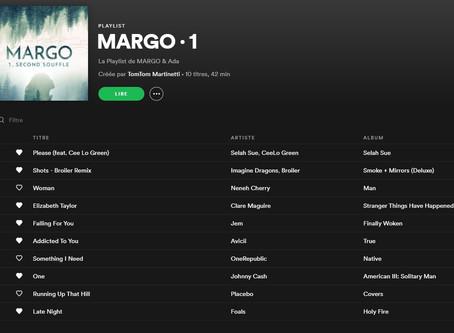 Ecoutez la Playlist de MARGO