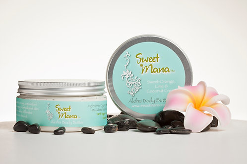Sweet Mana Body Butter ~Sweet Orange, Lime & Coconut