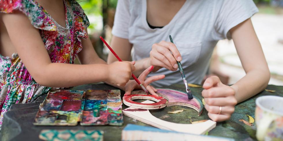 Atelier de peinture, Maman et fille : Spécial Frida Kahlo !