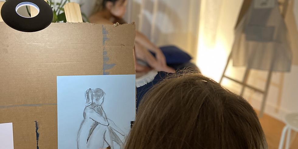 Atelier de peinture avec modèle vivante : Les femmes artistes surréalistes