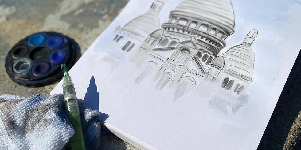 Atelier de peinture à Montmartre :)