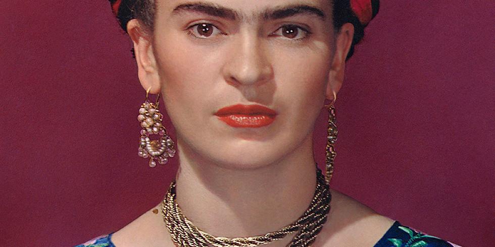 Les femmes artistes : Frida Kahlo ;) Atelier avec  modèle vivante