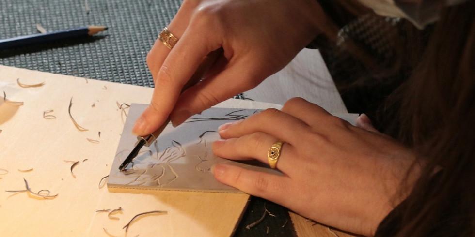 Atelier-Apéro ! Gravure Linocut  !