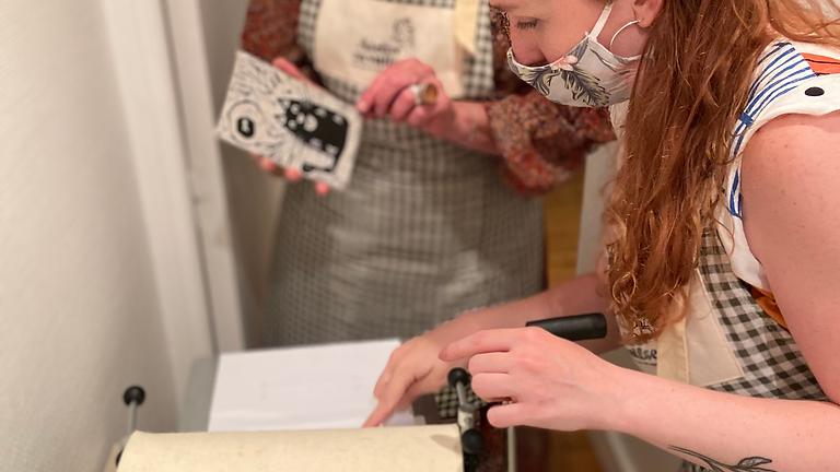 Atelier Gravure Linocut : Spécial les femmes de l'art déco et de l'art nouveau