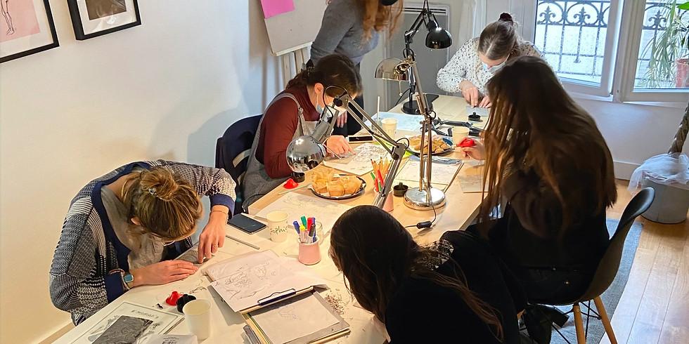 Atelier gravure Linocut : Spécial Leonora Carrington et Max Ernst