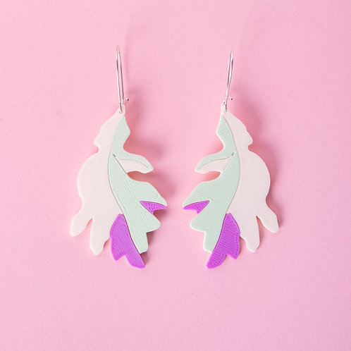 Georgia : Purple Leaves boucles d'oreilles