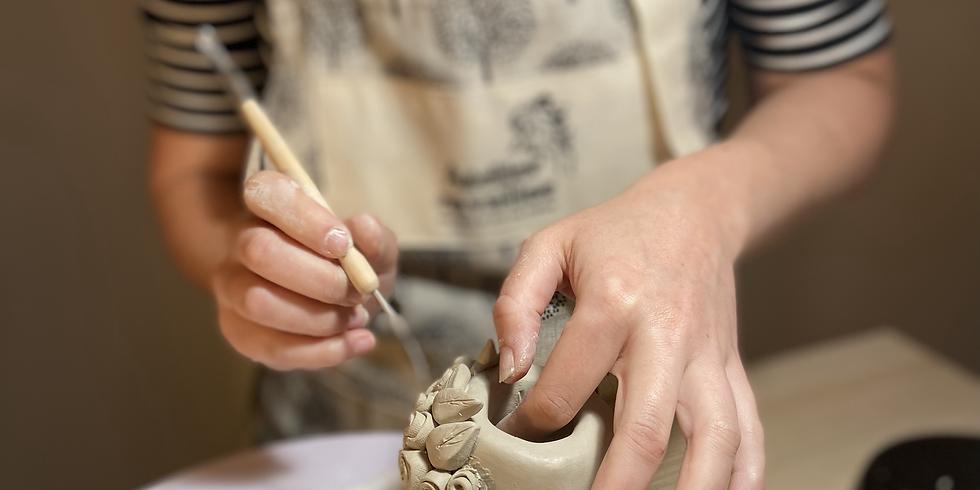 Atelier- apéro. Découverte de modelage en céramique : Spécial Frida Kahlo