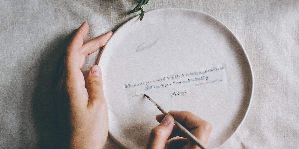 Atelier Céramique : peinture sur assiettes