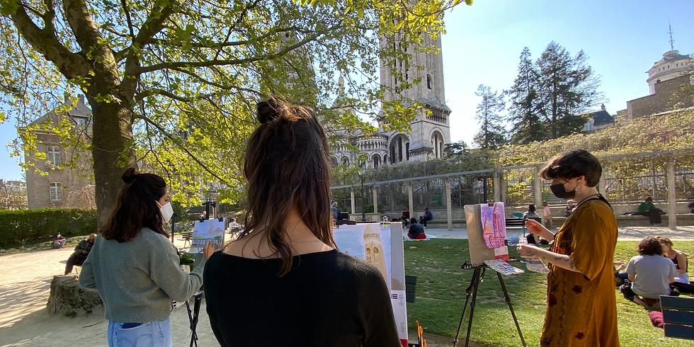 Atelier de peinture en plein air à Montmartre : Spécial Tarsila Do Amaral