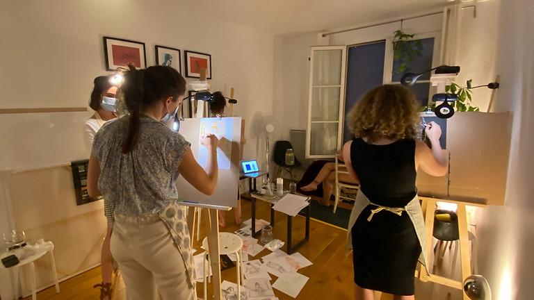 Atelier de peinture avec modèle vivante : Les femmes artistes et le fauvisme