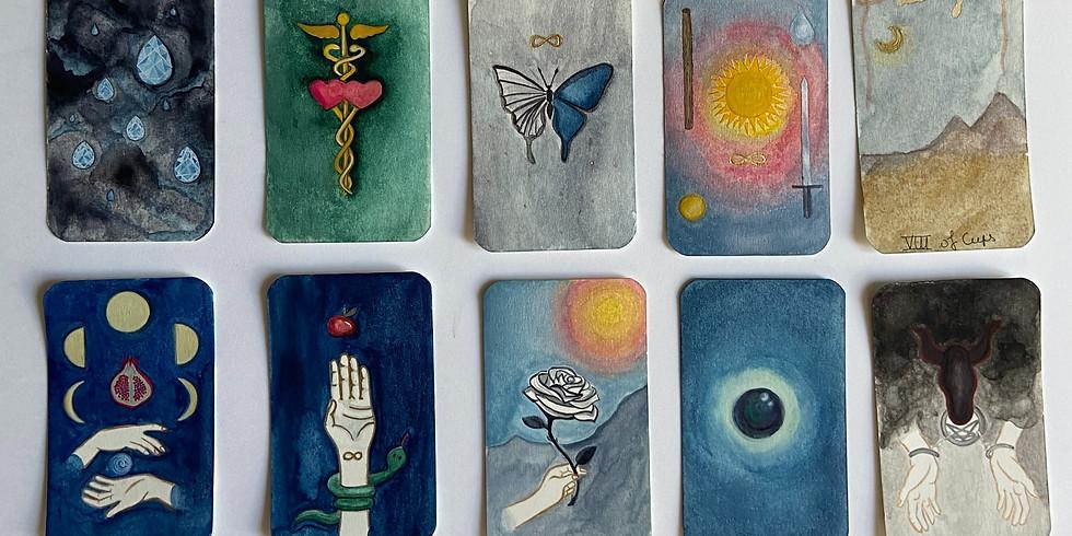 Viens peindre tes propres cartes de tarot !
