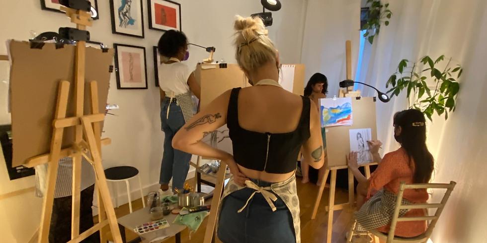 Atelier-Apéro avec modèle vivante : Spécial Yoko Ono !