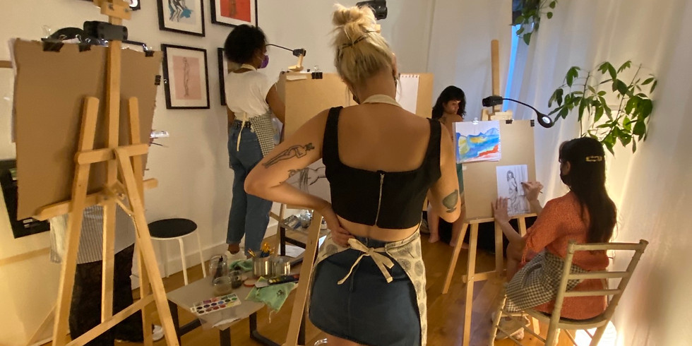 Atelier-Apéro avec modèle vivante : Spécial Louise Bourgeois !