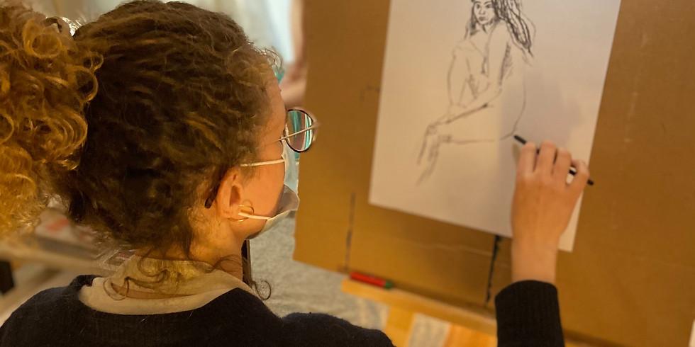Atelier-Apéro avec modèle vivante : Spécial Françoise Gilot !