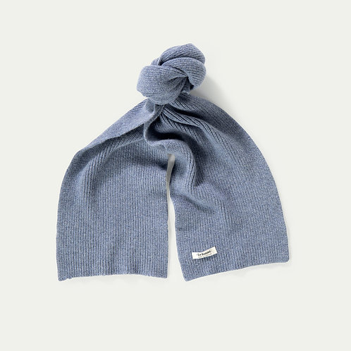 Lambswool Schal Washed Denim