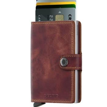 Miniwallet Vintage Brown RFID